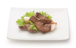 Fried beef liver Stock Photos