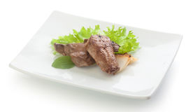 Fried beef liver Royalty Free Stock Image