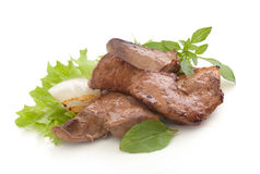 Fried beef liver Royalty Free Stock Photos
