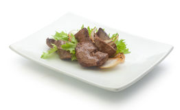 Fried beef liver Royalty Free Stock Photo