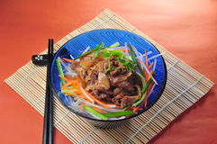 Fried beef noodle Stock Photos