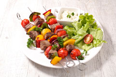 Fried beef with salad Royalty Free Stock Photo