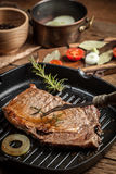 Fried beef steak. Stock Image