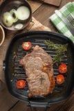 Fried beef steak. Stock Image