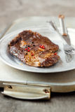 Fried beef steak Royalty Free Stock Photo