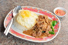Fried Beef With Oyster Sauce Royalty Free Stock Images