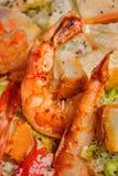 Fried big red shrimp Stock Photos