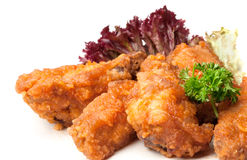 Fried bird in sour sweet sauce Royalty Free Stock Photo