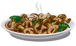 Fried boiled mushrooms Royalty Free Stock Image