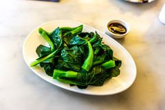 Fried Bok Choy imagem de stock royalty free