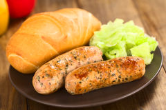 Fried Bratwurst Royalty Free Stock Image