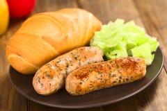 Fried Bratwurst Royalty Free Stock Image