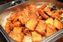 Fried bread Stock Photo