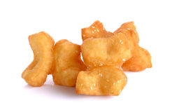 Fried bread stick  on the white background Stock Photo