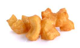 Fried bread stick  on the white background Stock Photography
