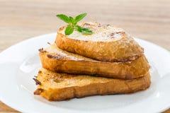 Fried bread toast Stock Photos