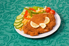 Fried breaded chicken breast Royalty Free Stock Photo