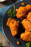 Fried Breaded Chicken Wings profundo picante Foto de Stock Royalty Free