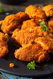 Fried Breaded Chicken Wings profundo picante Fotos de archivo libres de regalías