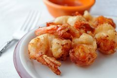 Fried breaded shrimps Royalty Free Stock Photo