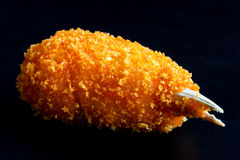 Fried breaded surimi crab claws. Royalty Free Stock Photography