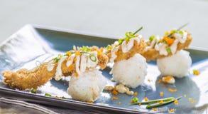 Fried Breaded Sushi Stock Photo