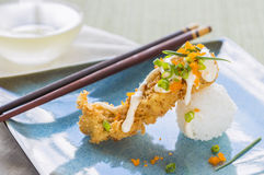 Fried Breaded Sushi Stock Photography