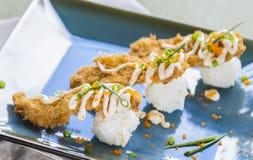 Fried Breaded Sushi Royalty Free Stock Photos