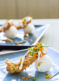 Fried Breaded Sushi Stock Images