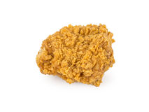 Fried breast chicken. On white background Stock Photos
