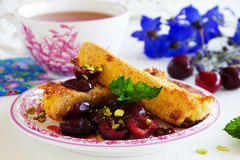 Fried brie Stock Photo