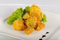 Fried broccoli stock photography