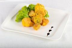 Fried broccoli royalty free stock photos