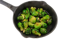Fried Brussels sprouts (Cabbage) Royalty Free Stock Image