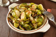 Fried brussels sprouts Royalty Free Stock Photography