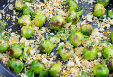 Fried brussels sprouts with migas Royalty Free Stock Image