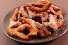 Fried bugne stock images