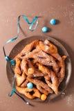 Fried bugne stock photo