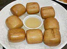 Fried bun Stock Photo