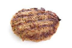 Fried Burger Beef Patty. Isolated on white background Stock Image