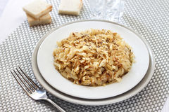 Fried cabbage with caraway and garlic Royalty Free Stock Photo
