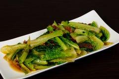 Fried cabbage Romano stock photos