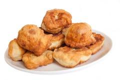 Fried cakes Bulgarian style isolated - mekici Royalty Free Stock Images