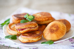 Fried cakes with jam Stock Photo