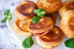 Fried cakes with jam Stock Image