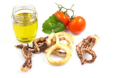 Fried Calamari Royalty Free Stock Photography