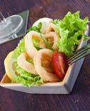 Fried calamari Stock Photo