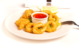 Fried calamari Stock Photography