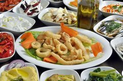 Fried calamari Royalty Free Stock Photos
