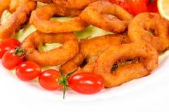 Fried calamari Stock Photos